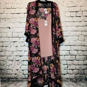 Long duster kimono and camisole